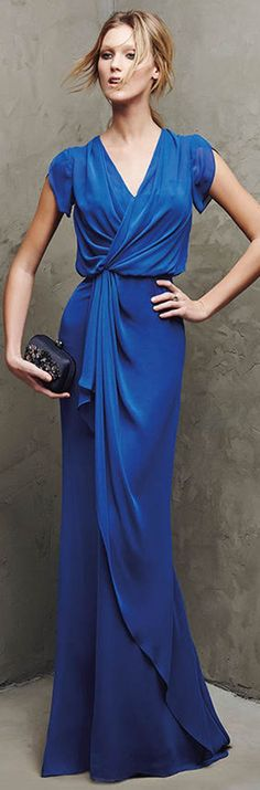 @roressclothes clothing ideas #women fashion blue maxi dress Awesome outfit for any event
