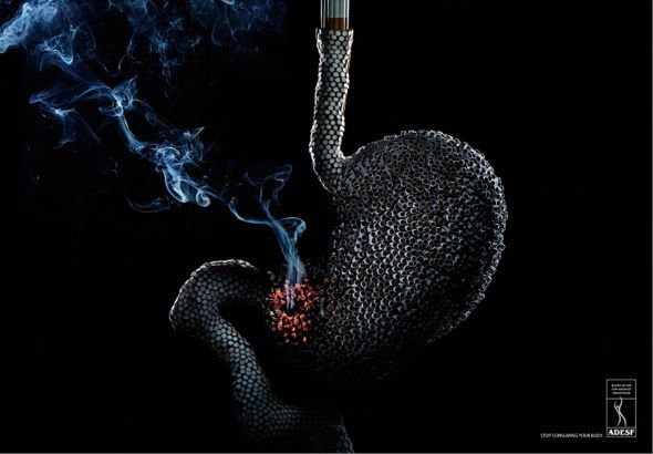 Image result for smoking stomach