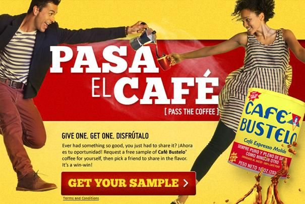 Free Sample Of Cafe Bustelo Coffee 1st 100 000 Cafe Bustelo Coffee Samples Bustelo Coffee