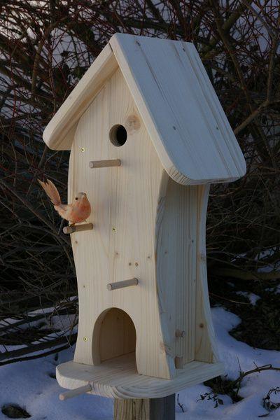 *Vogelhaus zum Selbstbemalen*  Sinnvolle und nutzvolle Dekoration für Ihren Garten,Balkon,Terrasse etc.  Aus gehobeltem Fichtenholz in sorgfälltige