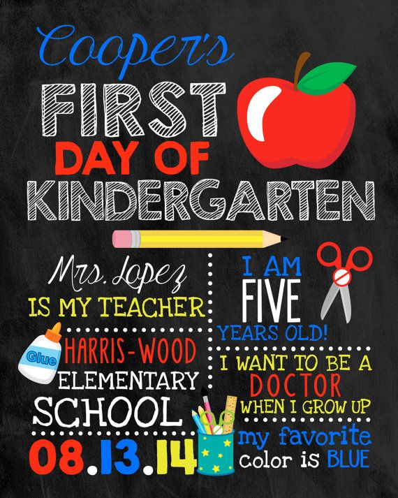 First day of school sign chalkboard sign by for First day of school sign template