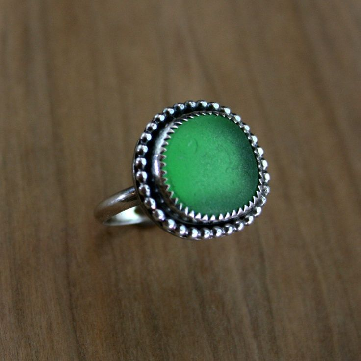 California Sea Gl Jewelry Rings Green Ring Beach Sterling Silver