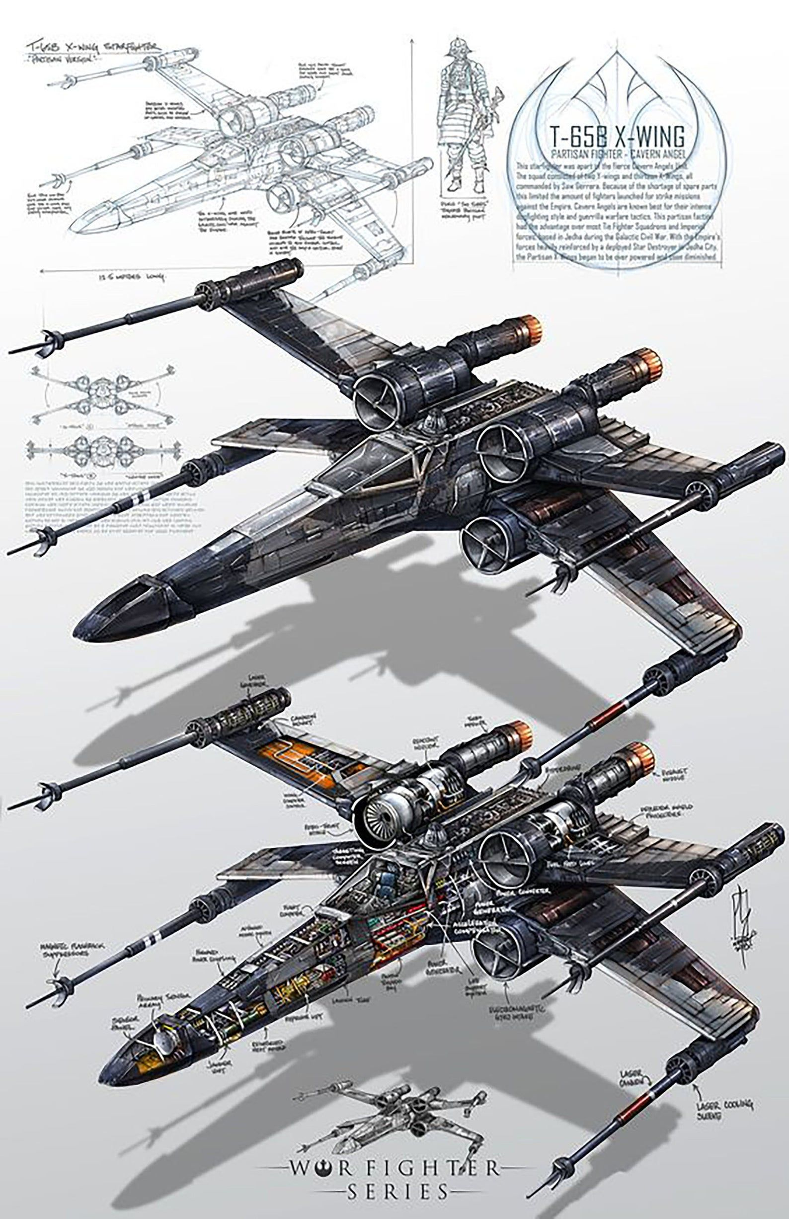 Star Wars X-Wing Fighter Vintage Movie Poster