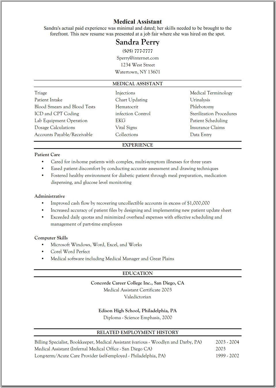 Resume Examples For Medical Assistant Luxury Patient Survey Cover