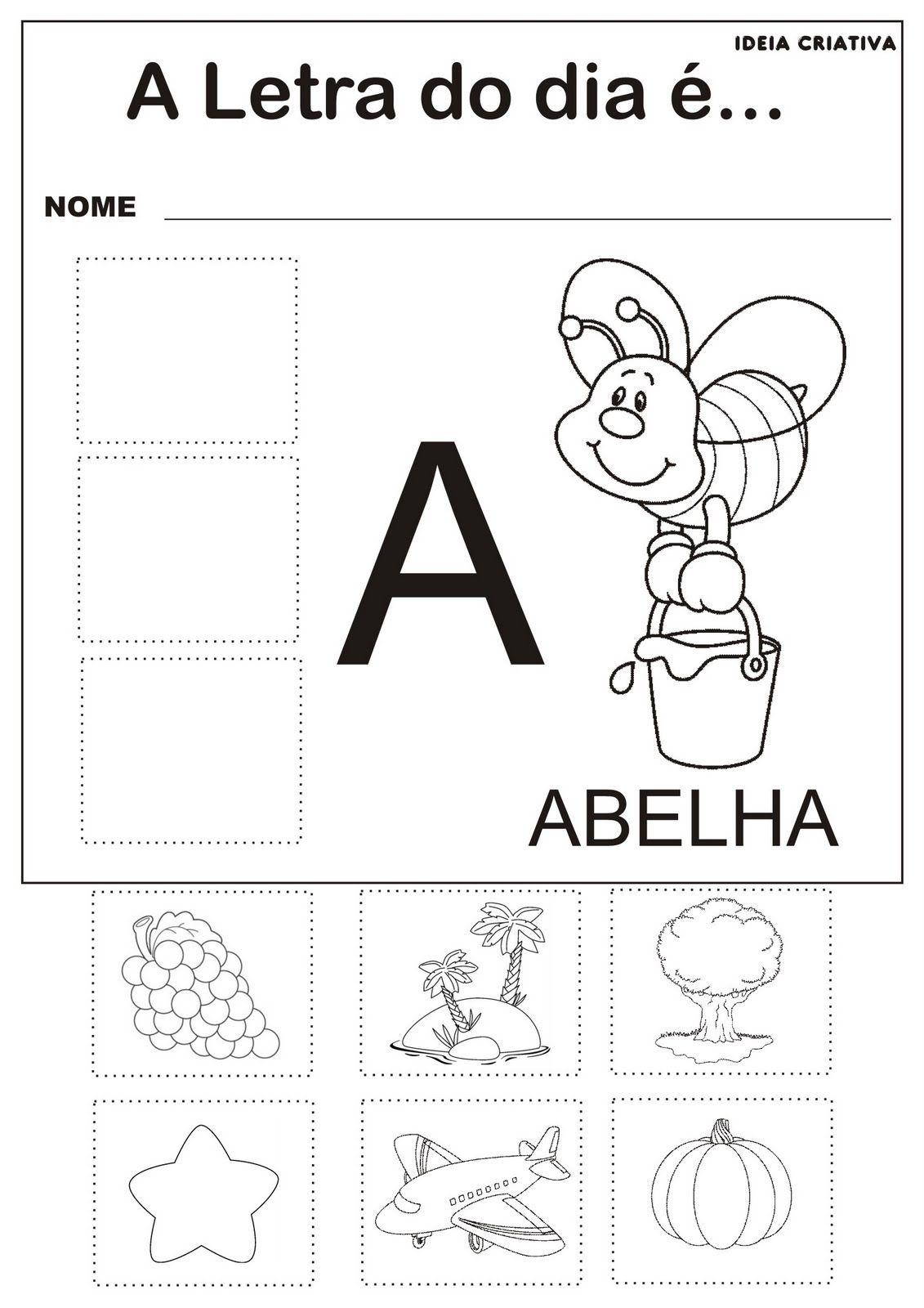 Extremamente Atividades com as Vogais - A, E , I, O e U | Ideia Criativa - Gi  RU98