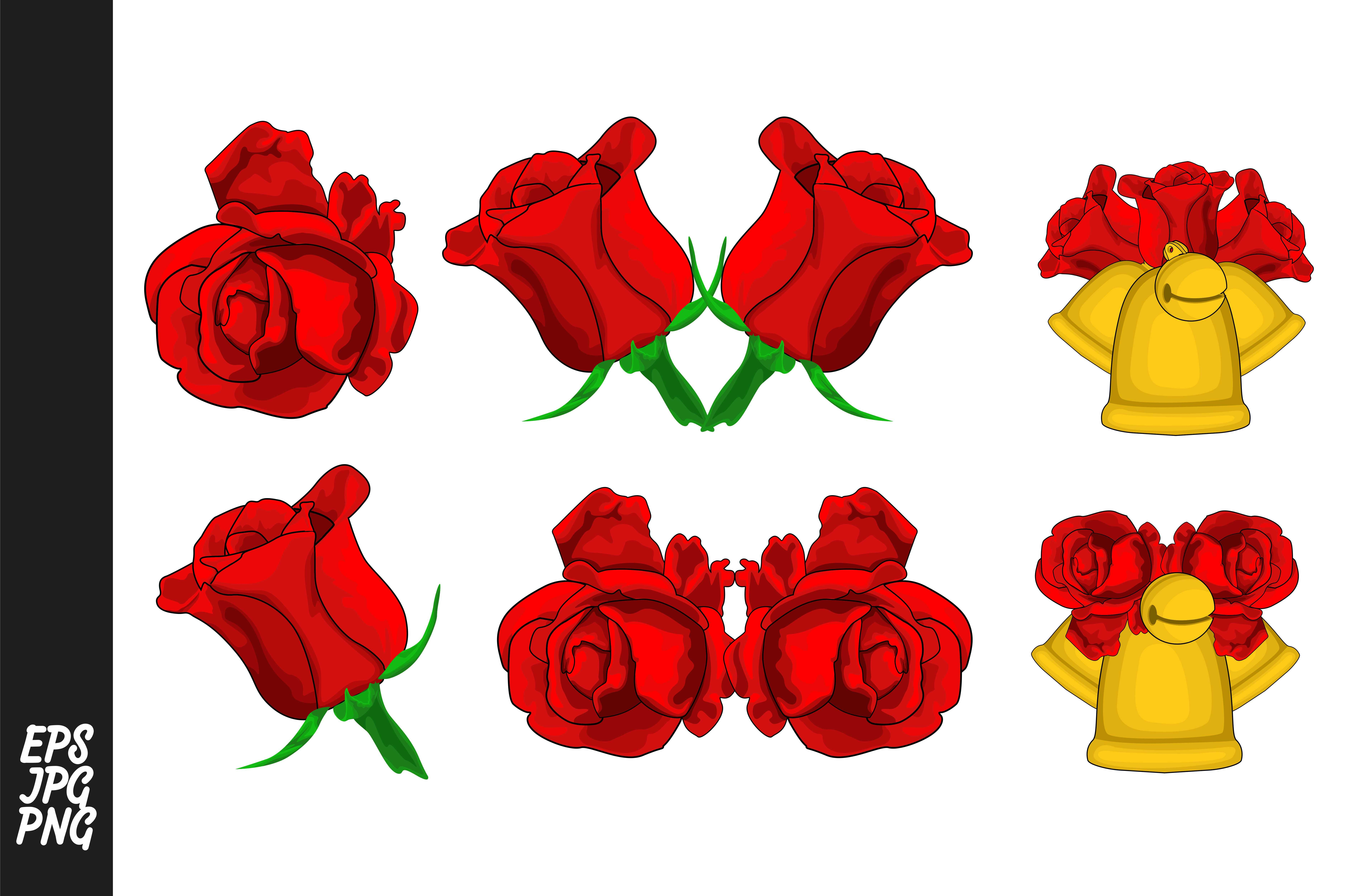 Flower Red Rose Decoration Set Graphic By Arief Sapta Adjie In 2020 Rose Decor Red Roses Flowers