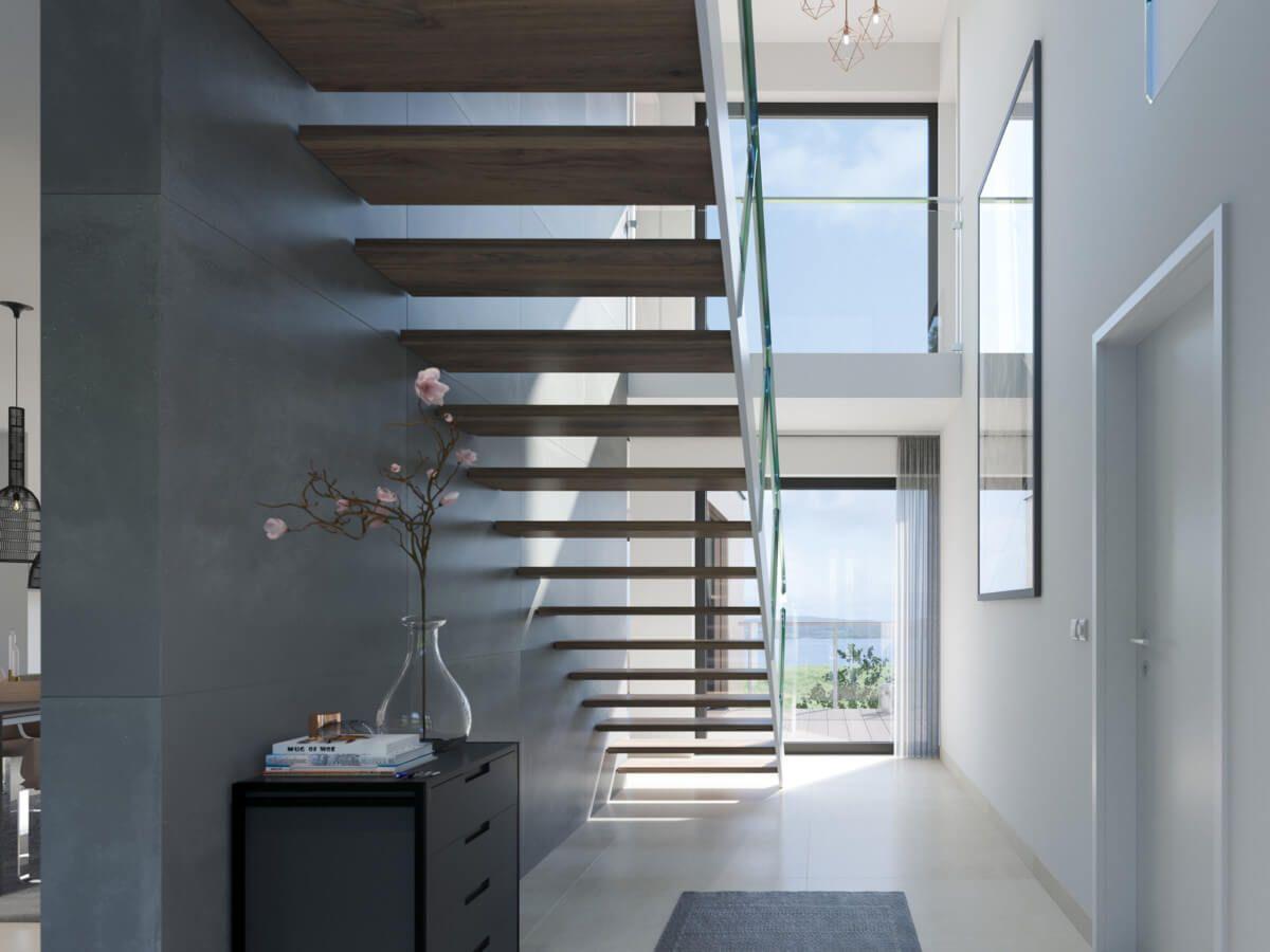 Schon Treppenhaus Mit Einläufiger Treppe Offen U0026 Galerie   Architektur Detail Haus  Concept M 170 Villingen