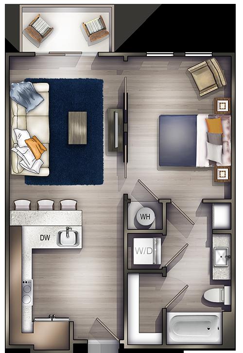 Studio Apartments Nashville  Peyton Stakes Luxury Apartments A1 1 Bed  1 Bath 657 Sq Ft