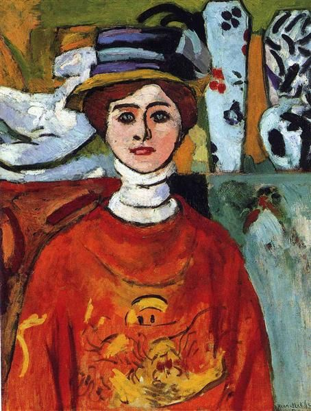 The girl with green eyes - Henri Matisse. 1908.