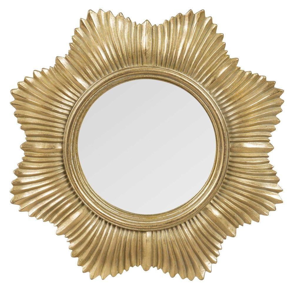 Miroir Soleil Rond Dore D20 Maisons Du Monde Chambre A Coucher