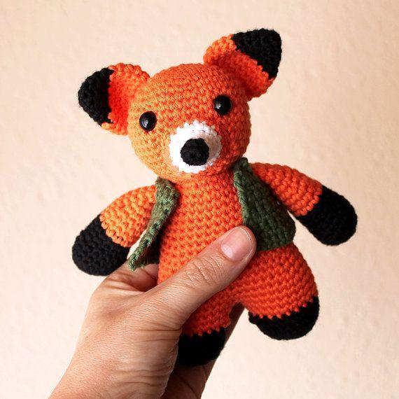 Fox Animalius. Amigurumi Pattern PDF Animal Toy by Mindundia
