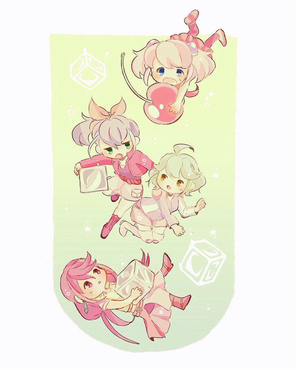 Yuzu, Serena, Rin and Ruri Yugioh, Anime, Chibi