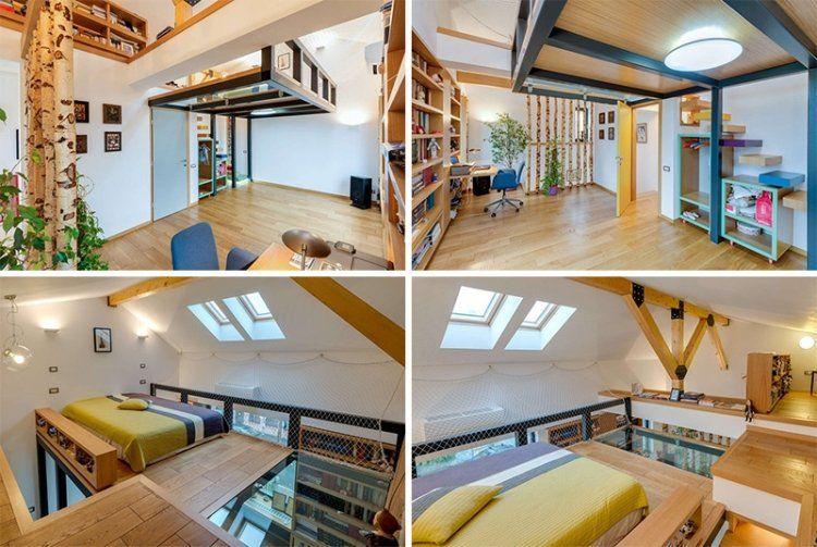 Lit mezzanine 2 places - 9 idées gain de place chambre adulte ...