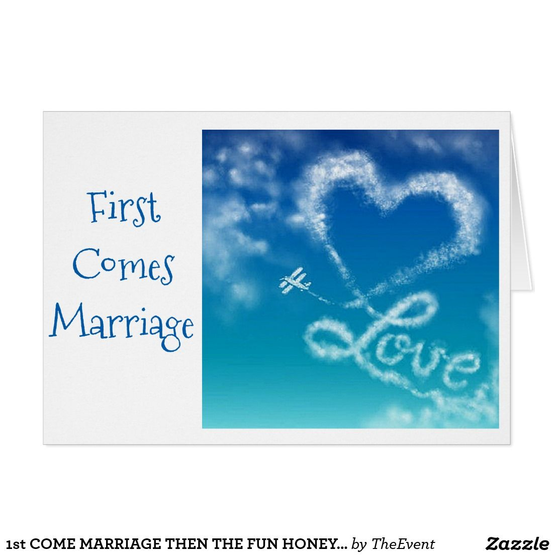 1st comes marriage then the fun honeymoon card greeting cards 1st comes marriage then the fun honeymoon card kristyandbryce Images