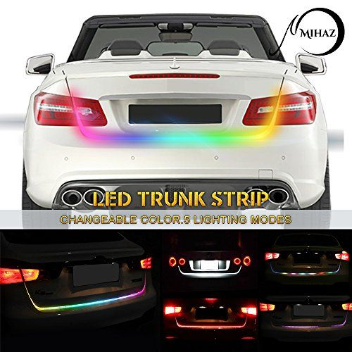 Mihaz tailgate led strip light rgb streamer running light for car mihaz tailgate led strip light rgb streamer running light for car trunk cargo lights turnning braking signal lighting with 7 colors 48 inch for p mozeypictures Images