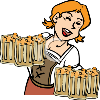 a woman with steins of beer oktoberfest clipart pinterest free rh pinterest com free oktoberfest clip art images free oktoberfest clipart