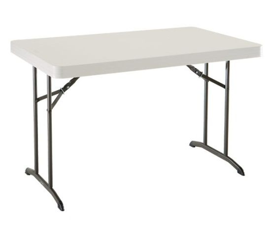 Lifetime 22645 4 X 2 5 Plastic Folding Table On Sale Free Shipping Folding Table Lifetime Tables Cheap Patio Furniture