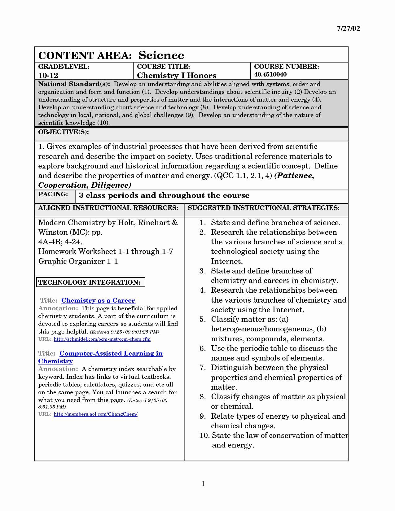 Classifying Matter Worksheet Answers Inspirational 15 Best ...