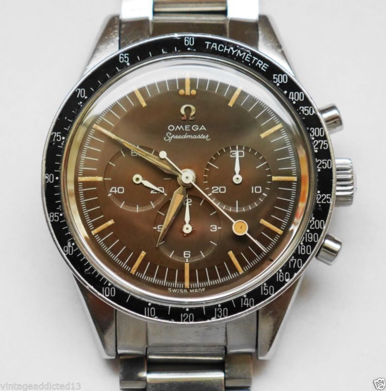 4fe4b797ae8 OMEGA Speedmaster 2998-2 Tropical Brown Dial Lollipop Hand.Very 1960.C.321