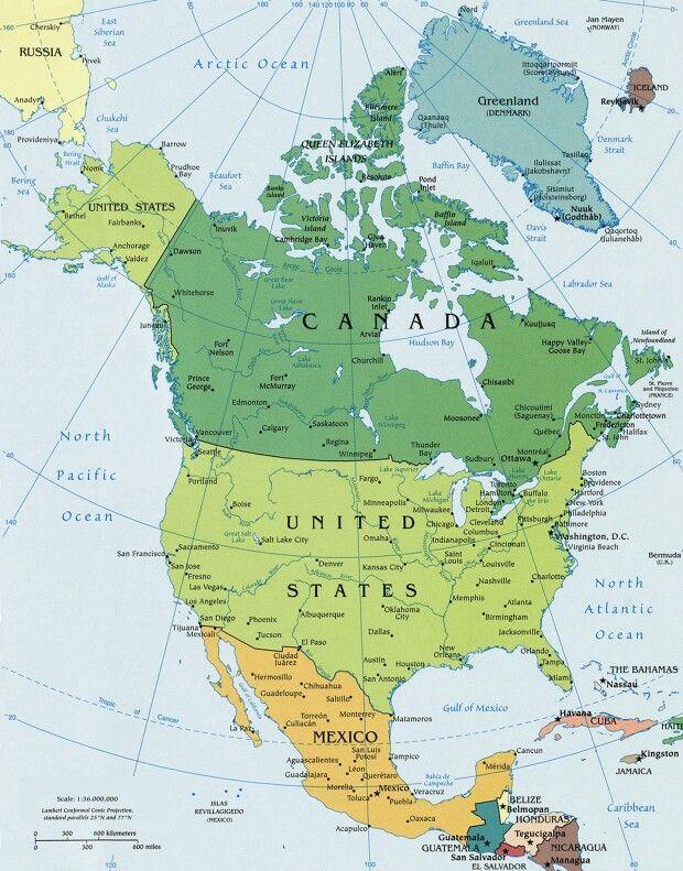 North america   Maps   North america map, United states map ...