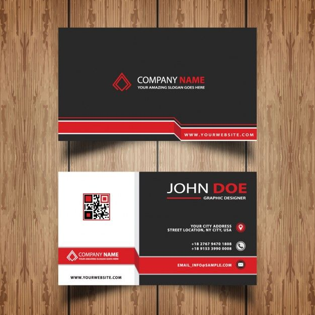 Professional Business Card In Modern Style Free Vector