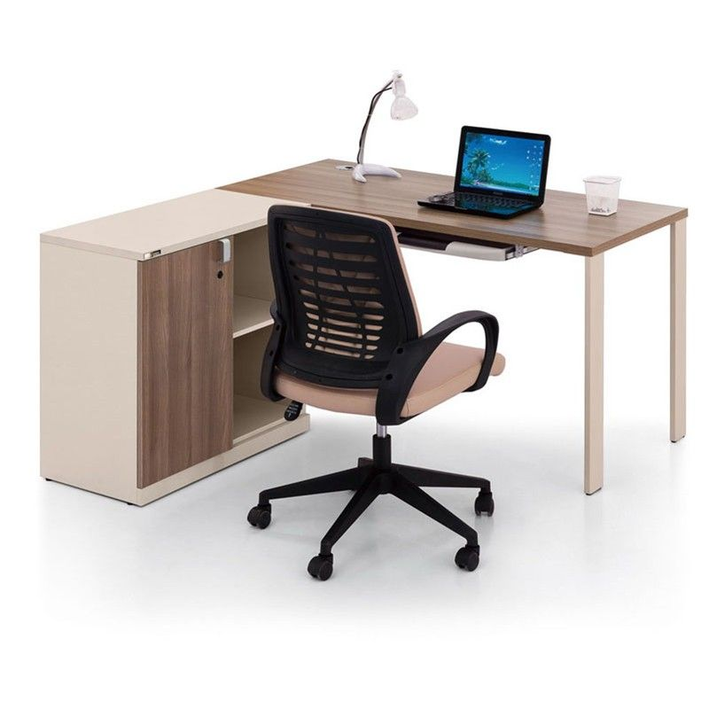 Best Price Commercial Furniture Mfc Panel Office Desk Modern Design Computer Table