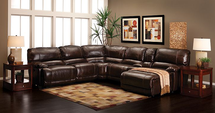 The Cloud Reclining Sectional Has Endless Options With Modular Leather  Sections In Walnut,