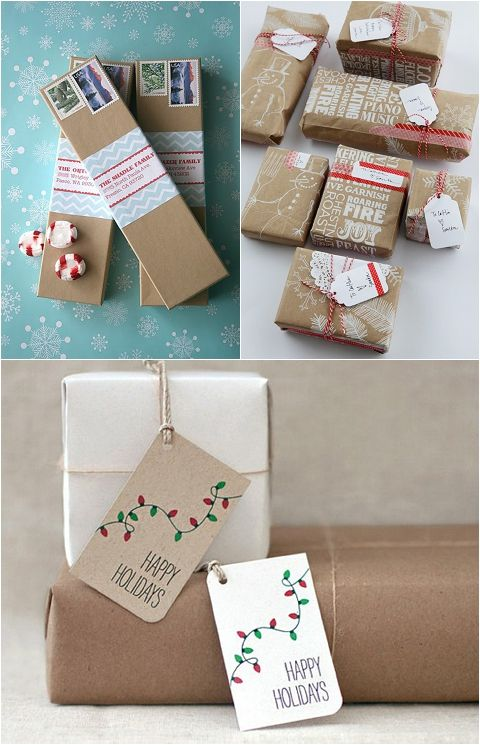 Kraft Brown It/'s Beginning To Look A Lot like Christmas Gift Packaging Christmas Tags