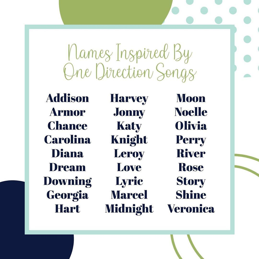 Names Inspired By One Direction Songs Calling All Directioners This List Of Baby Names Inspired By One Direction One Direction Songs Baby Name List Names