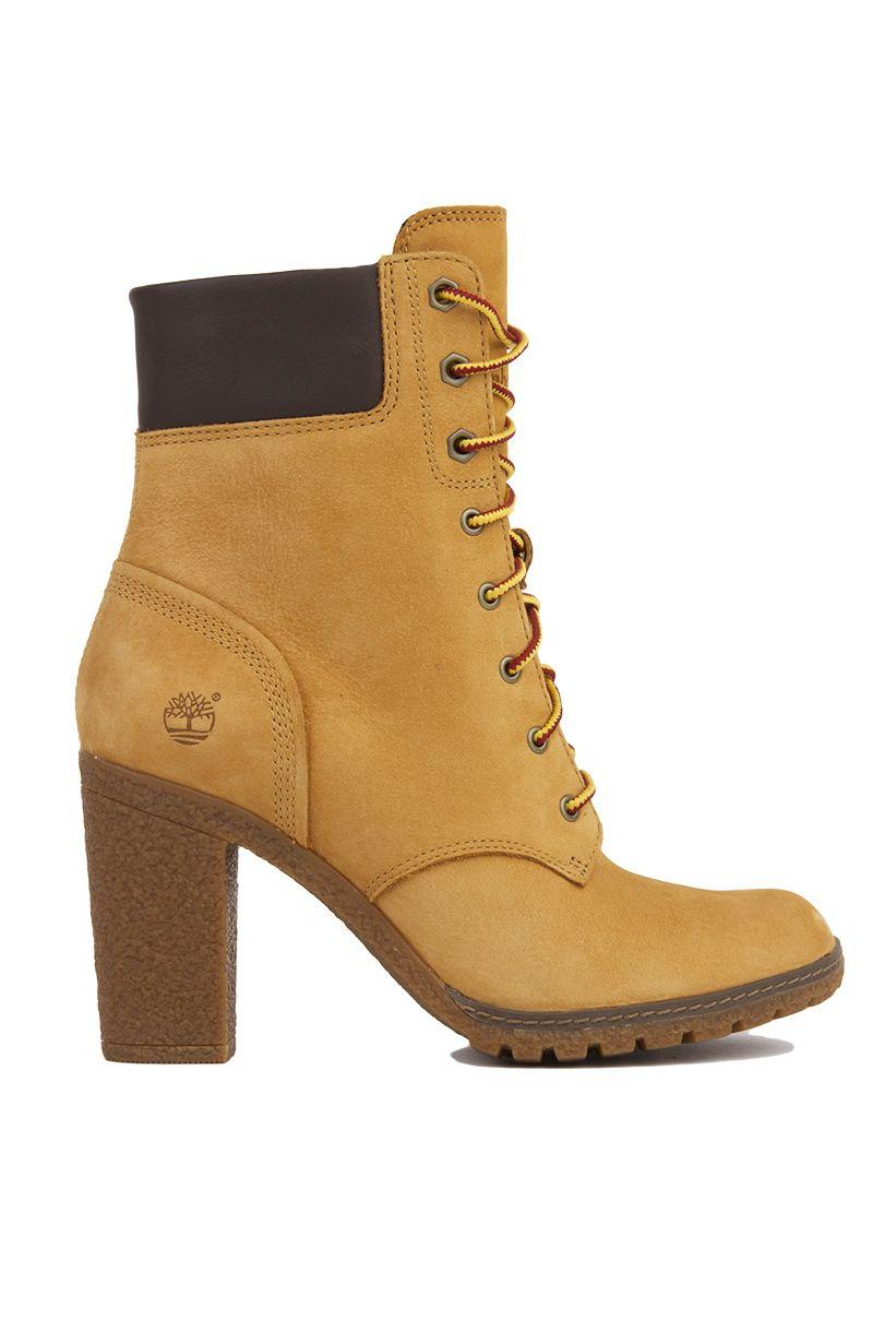 acf649c6b7f5 Wheat Nubuck Timberland Glancy 6-Inch Heeled Boots