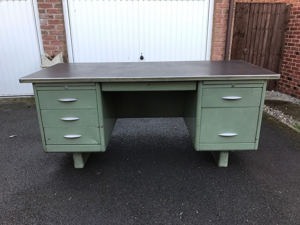 Delicieux Vintage/Retro Metal Engineers Desk | EBay