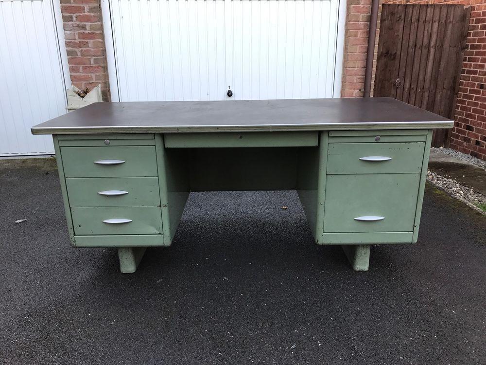 Exceptionnel Vintage/Retro Metal Engineers Desk | EBay