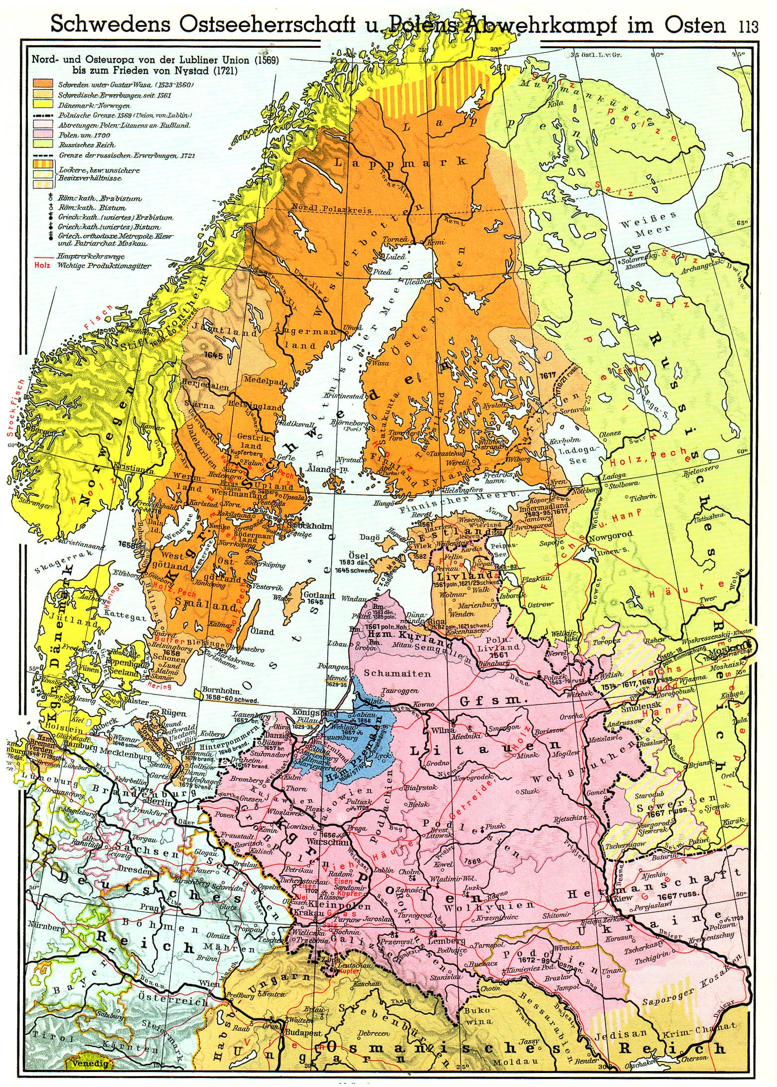 swedish empire in 1569 german language
