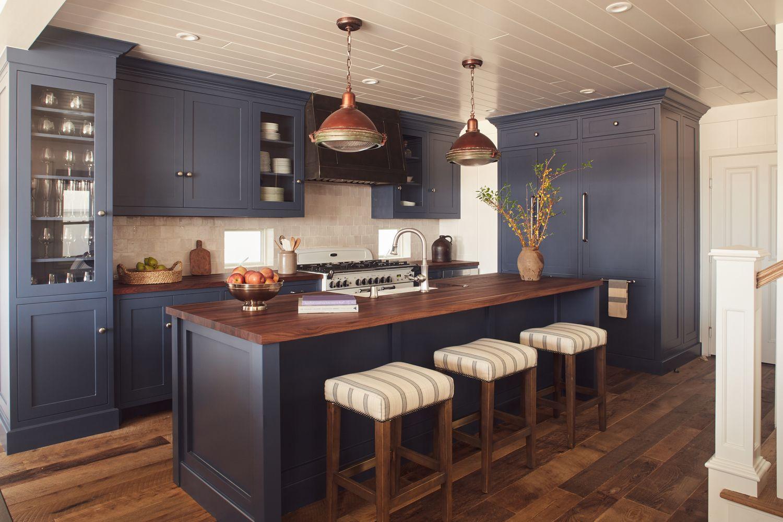 blue kitchen kitchen decor modern kitchen wood island large kitchen design kitchen remodel ideas on kitchen decor navy id=81851