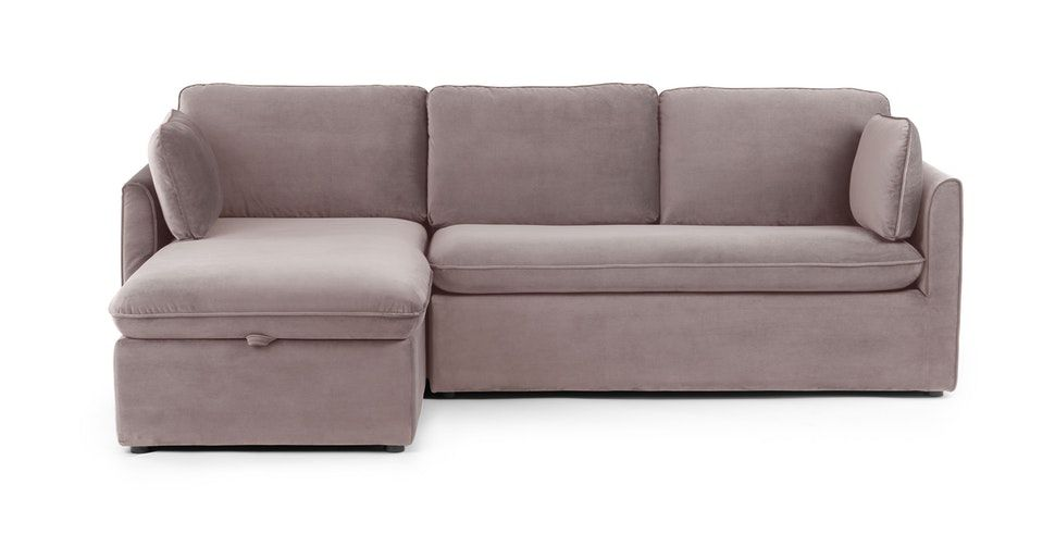 Oneira Deep Sea Blue Left Sofa Bed In 2020 Velvet Sofa Bed Sofa Bed Modern Sleeper Sofa