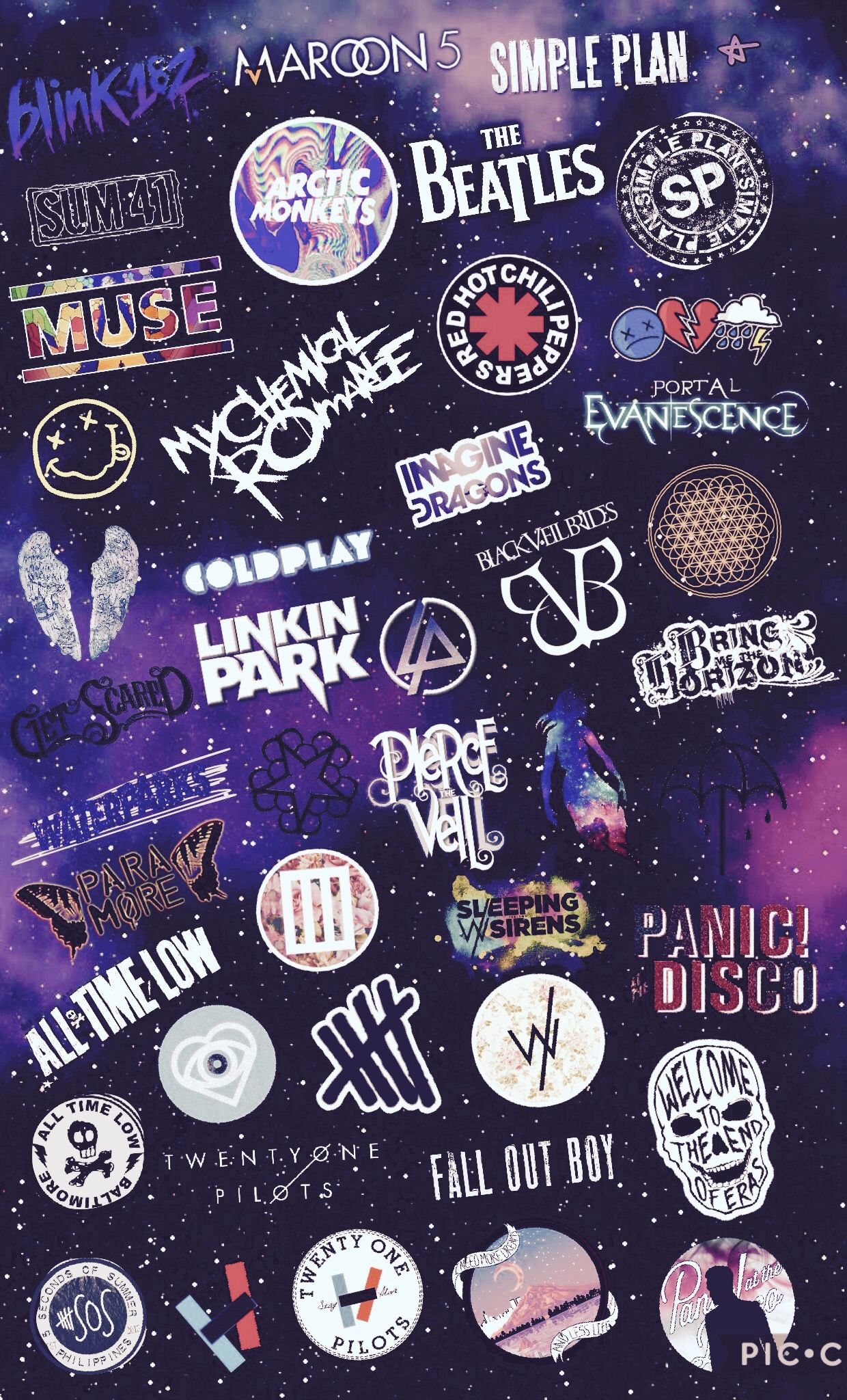 Imagine Dragons coldplay band collage 3 | Band Collage | Pinterest ...