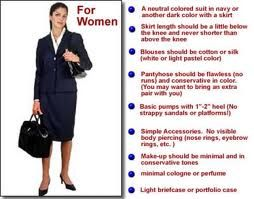 women's interview guidelines http://www.cpsprofessionals.com/