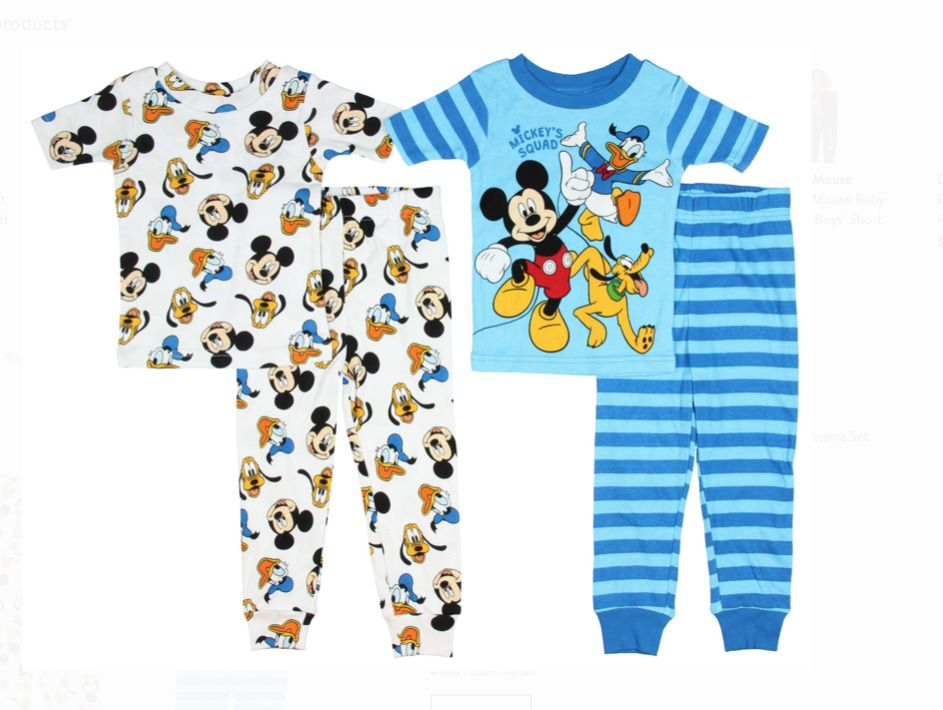 Disney Toddler Boys Cars 4-Piece Pajama Set