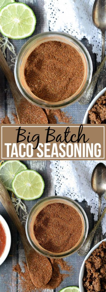 Big Batch Homemade Taco Seasoning - Mother Thyme