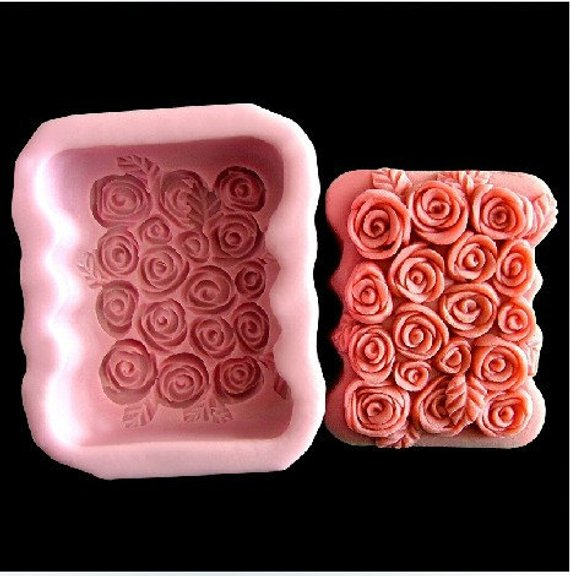 Soap Mold Rose Flower Flexible Silicone Mould For Resin Candy Candle Craft DIY H