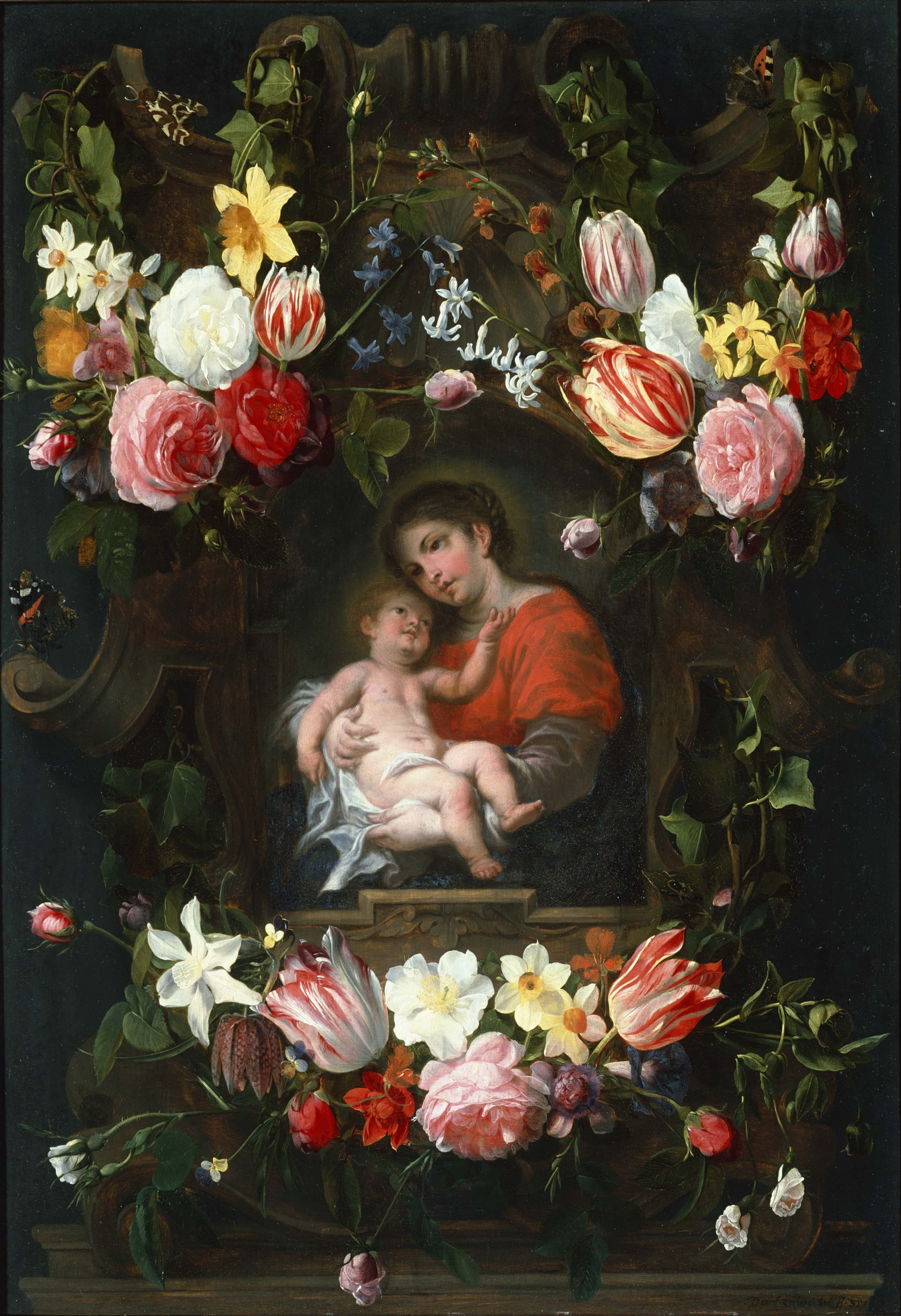 Dani l Seghers 1590–1661 — Garland of Flowers with Madonna and