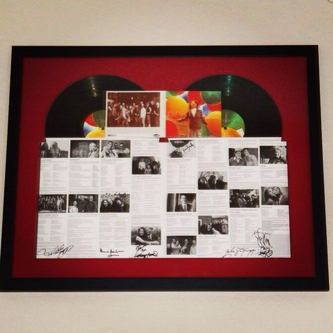 Double Vinyl Album Framed For A Pinkmartini Fan Vinyl Record Frame Framed Records Album Frames