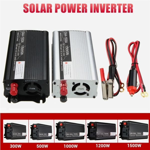 300 1500w 12v Dc To 230v Ac Household Car Solar Power Inverter Modified Sine Wave Converter Adapter Wave Form New Solar Power Inverter Solar Power Solar Power Charger