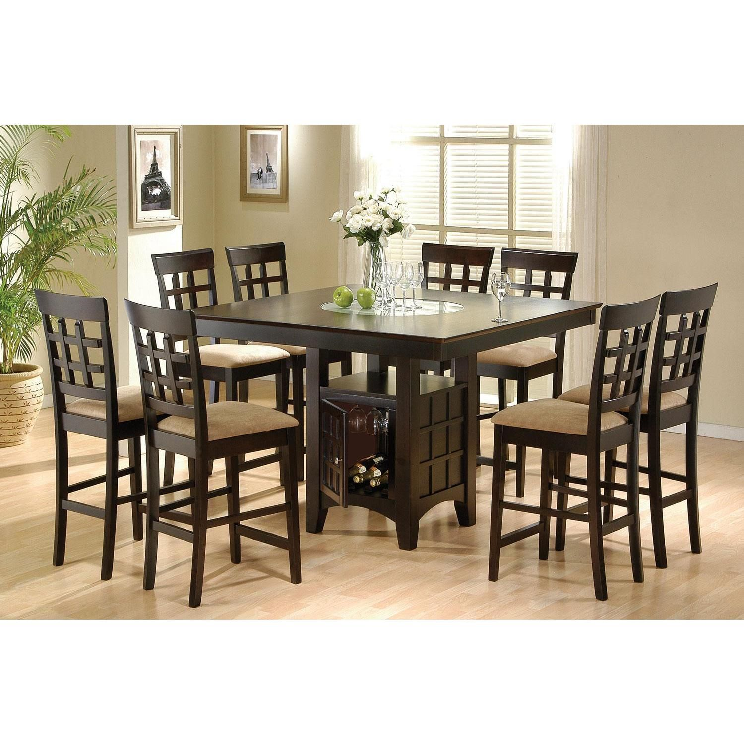 West Caraway 9 Piece Dining Set Square Dining Tables Counter