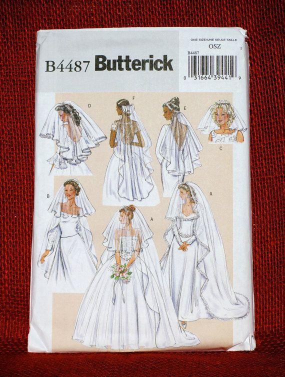 Butterick Sewing Pattern B4487 Bridal Veil, Blusher, Floral ...