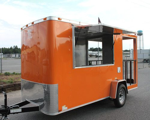 New 6x14 6 X 14 Enclosed Concession Food Vending Bbq Porch Trailer Must See Ebay Concession Food Food Truck Concession Stand Food