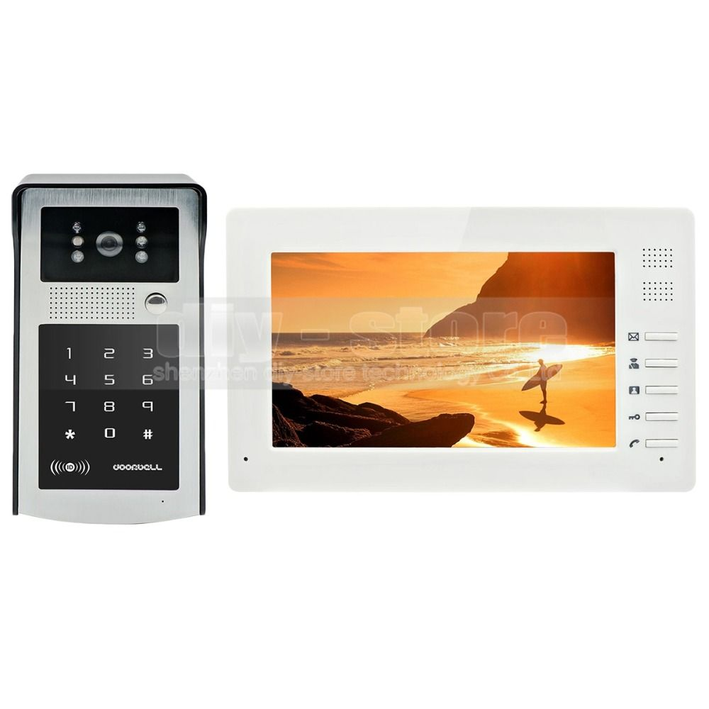 DIYSECUR 1024 x 600 7 inch HD TFT Color LCD Monitor Video