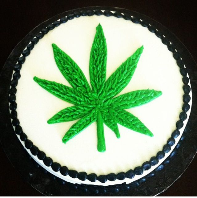 Marijuana Weed Theme Birthday Cake sorry no weed inside