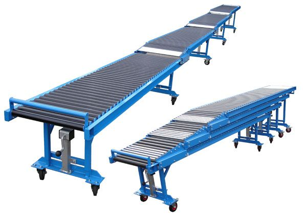 Nihva Telescopic Belt Conveyor Can Not Be Used In Loading Bays Waterways Or Harbors But Also As A Conve Conveyors Conveyor System Material Handling Equipment