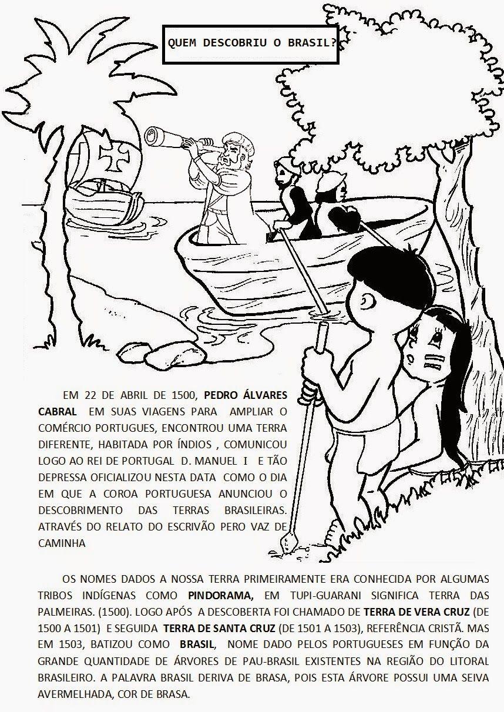 Atividades Escolares Descobrimento Do Brasil 22 De Abril Dia Do